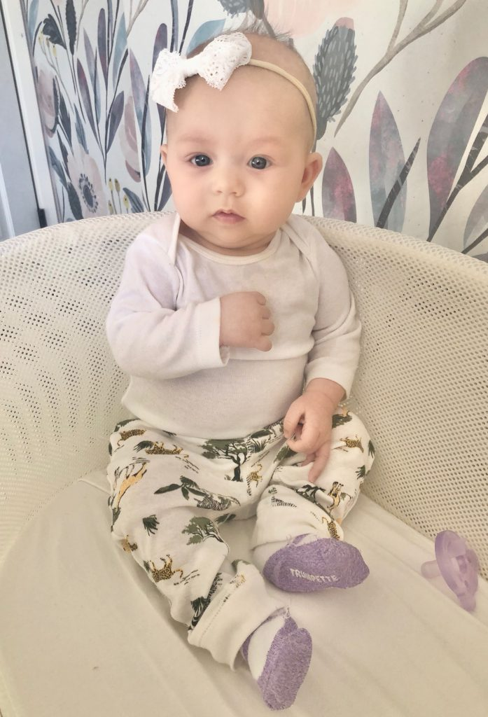 Baby in Snoo Smart Bassinet