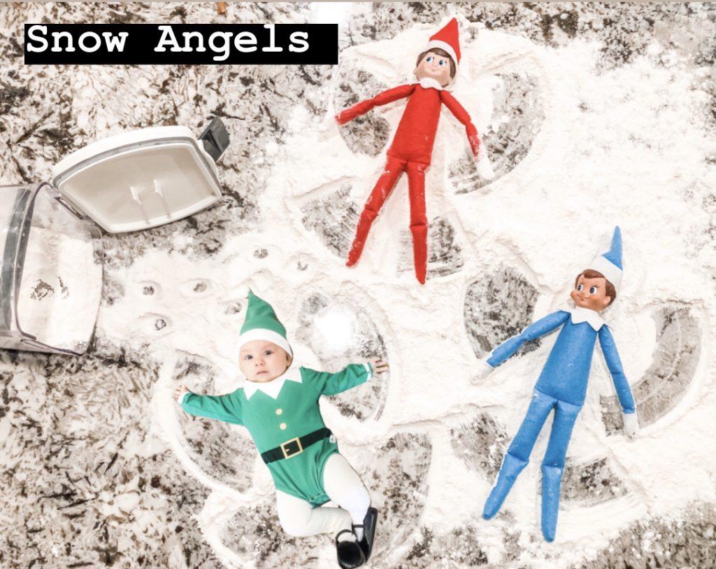Elf on the Shelf snow angels
