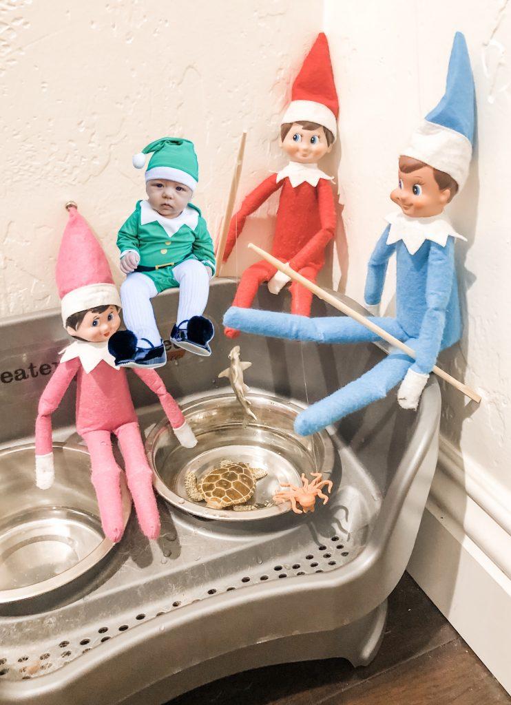 Elf on the Shelf fishing