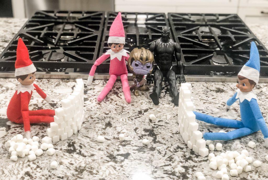 Elf on the Shelf snowball fight