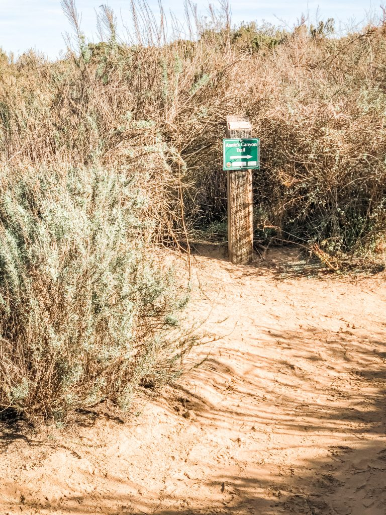 Annie's Canyon Trail sign