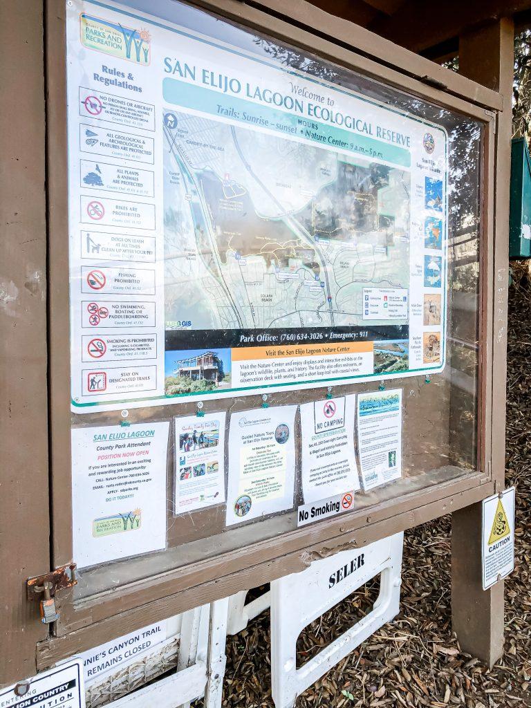 Annie's Canyon San Elijo Lagoon Ecological Reserve trail map.