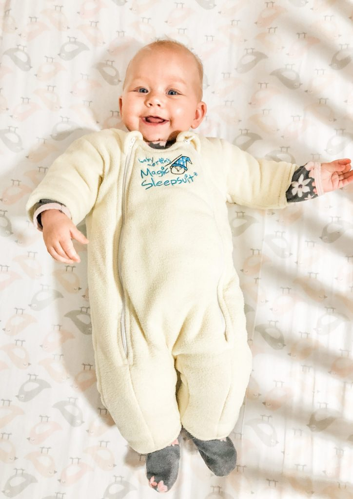 Sleepsuit helps Wean from Snoo to crib