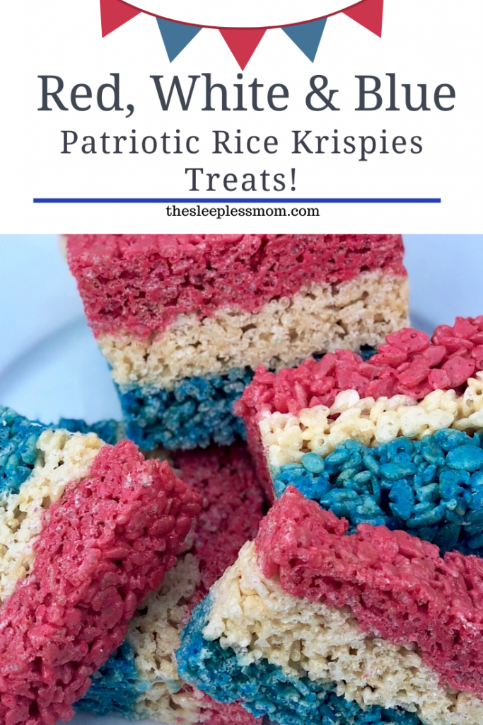 Red White & Blue Rice Krispies Treats